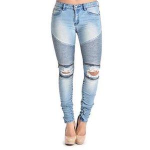 Fashion Nova Distressed Skinny Jeans